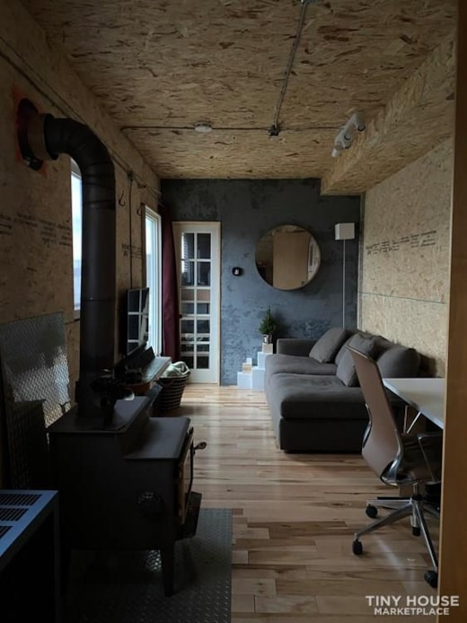 "Off-grid Tiny house in a 53"" semi truck"