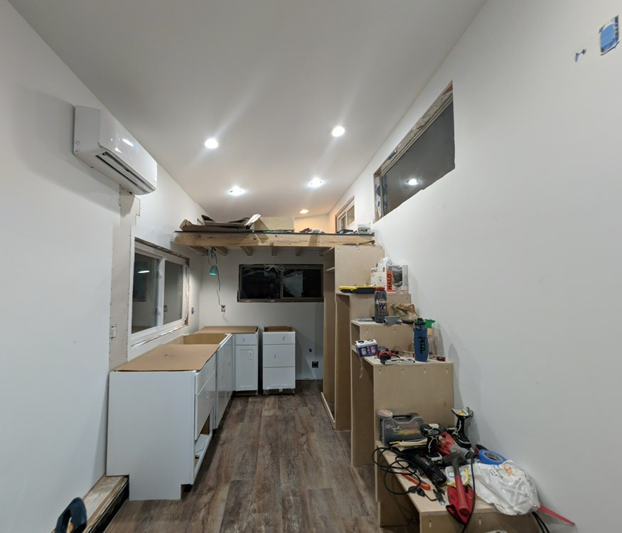 Reduced price, Must Sell ASAP! 8.5x27 Modern Dual Loft Tiny House on Trailer - Slide 5