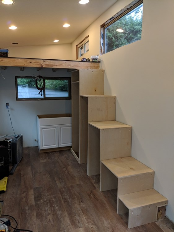 Reduced price, Must Sell ASAP! 8.5x27 Modern Dual Loft Tiny House on Trailer - Slide 10