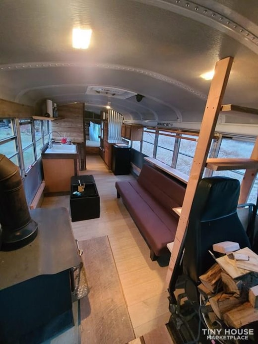 Schoolie tiny home cabin on wheels