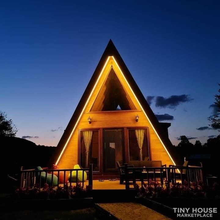 Tiny House For Sale Wood A Frame House - Slide 2