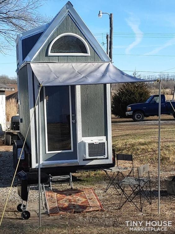 Custom Tiny house on Trailer with loft, Flush toilet, & Awning for Outdoor Life - Slide 2