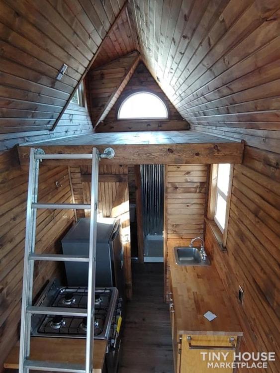 Custom Tiny house on Trailer with loft, Flush toilet, & Awning for Outdoor Life - Slide 5