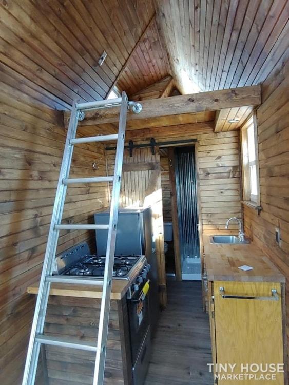 Custom Tiny house on Trailer with loft, Flush toilet, & Awning for Outdoor Life - Slide 7